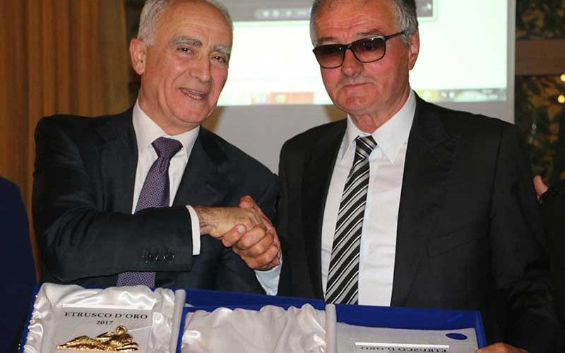 I premiati Tullio Del Sette e Franco Chianelli (foto Sandro Allegrini)