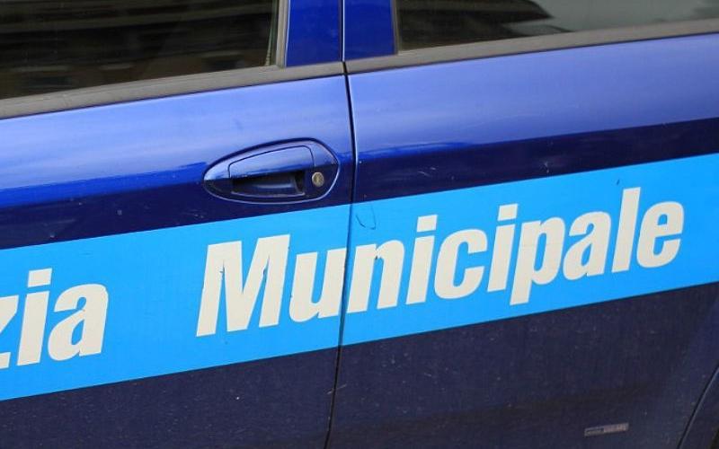 Auto in servizio polizia municipale