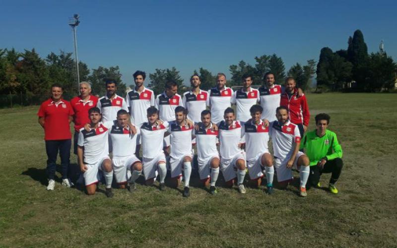 Squadra e staff tecnico dell'Orvieto Fc