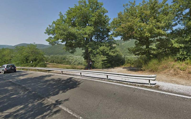 Un tratto della SS448 che collega Todi a Orvieto