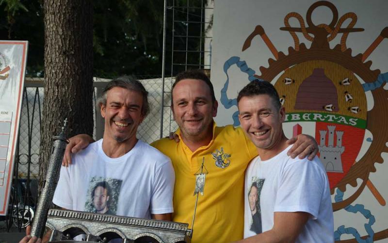 Leonardo Rubellini e Walter Aluigi portacolori della società San Pio X