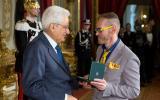 Leonardo Cenci con il presidente Mattarella