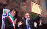 Andrea Romizi con Piero Terracina
