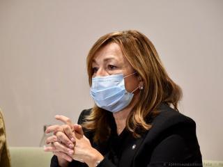 La presidente Donatella Tesei