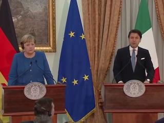 La cancelliera Angela Merkel e il premier Giuseppe Conte