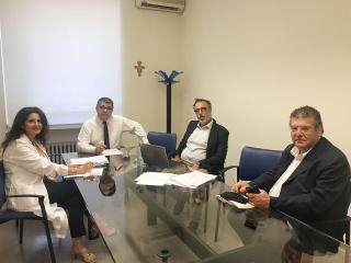 Il commissario Pasquale Chiarelli con la squadra di direzione