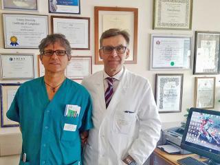 Il Dr. Domenico Frondizi e il Dr Sandro Carletti