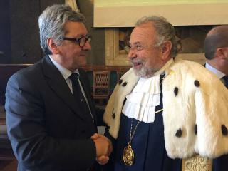 Domenico Manzione con il Rettore Paciullo