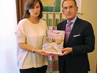 La presidente Donatella Porzi e il questore Antonino Messineo
