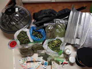 La droga sequestrata al giovane boliviano