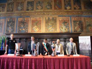 La Sir Safety Conad Perugia ricevuta dal sindaco