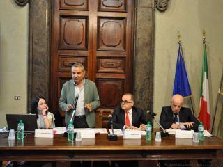 L'assessore Paparelli durante il seminario