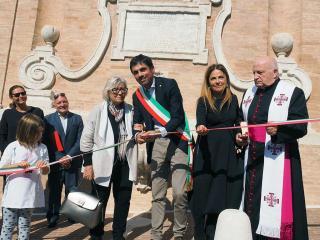 Il sindaco Romizi con la signora Lucia Modena
