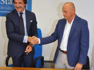 Il Questore Francesco Messina e il dg Usl Umbria 1 Andrea Casciari