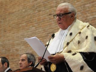 Il Rettore Franco Moriconi