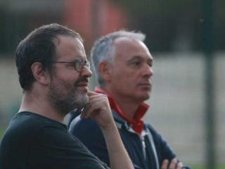 Il presidente Gaggia e il preparatore dei portieri Pelliccia