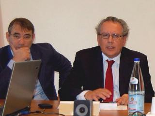 Il Direttore Gepafin Marco Tili e il Presidente Salvatore Santucci