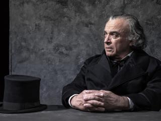 Franco Branciaroli nel ruolo di Jean Valjean