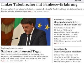 Renzi, Frankfurter Allgemeine Zeitung
