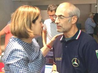Catiuscia Marini con Curcio Prtot.civ