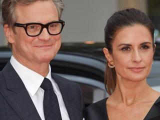 Colin Firth con la moglie Livia Giuggioli