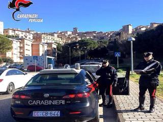 Carabinieri nel uogo dell'agguato