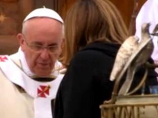 Presidente Mariini con Papa  Francesco