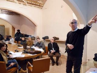 Conferenza stampa illuminazione Perugia. Foto. Bellfiore