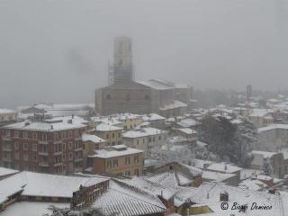 Particolare Perugia innevata