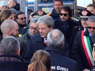 Paolo Gentiloni a Norcia
