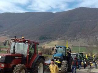 Contestazione agricoltori Castelluccio