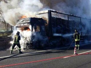 Camion, incendio