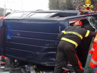 L'incidente con Vigili fuoco in azione