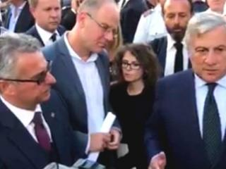 Tajani a Norcia