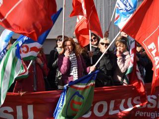 Manifestazione operai Colussi