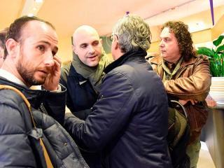 L'incontro del sindaco Alemanno con gli sfollati di Norcia