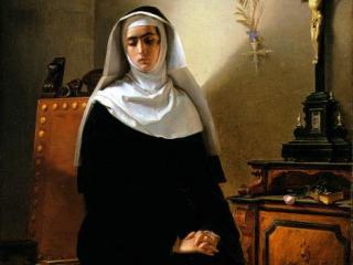 La Signora di Monza, dipinto di Giuseppe Molteni ispirato alla Monaca di Monza