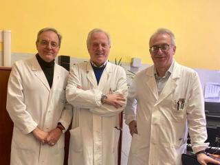 I dottori David Lazzari, Giuseppe Fatati e Sergio Bracarda