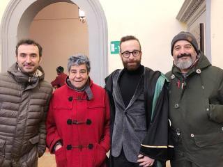 Nella foto, da sinistra: Lorenzo Raggi, Valeria Negri, Leonardo Caproni, Andrea Carboni