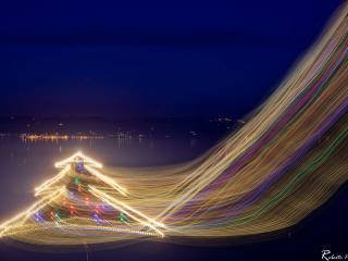 L'Albero di Natale sull'acqua (foto Roberto Pagnotta)