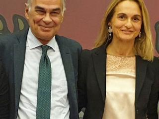 Il presidente Luciano Bacchetta e la consigliera Erika Borghesi
