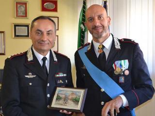 Il saluto al Maggiore Dario Allegretti