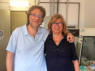 Il prof. Manlio Di Cristina e la prof.ssa Carla Emiliani
