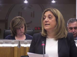 Catiuscia Marini durante il suo intervento