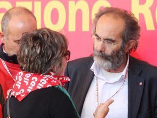 Mario Bravi con la segretaria CGIL Susanna Camusso