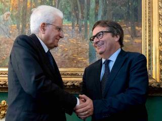 Il vice presidente del Csm Ermini con il presidente Mattarella