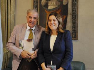 L'ingegner Michele Zappia con la presidente Catiuscia Marini