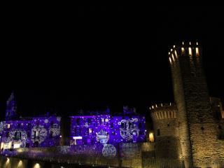 Lo spettacolo di luci nel periodo natalizio dello scorso anno