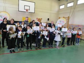 Gli alunni della 3ª A della Scuola primaria di Niccone