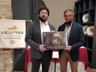 Il dott. Valentino Nizzo con Antonello Palmerini